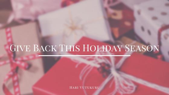Give Back This Holiday Season