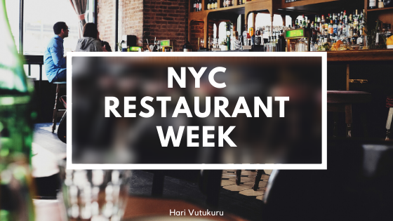New York City Restaurant Week 2020